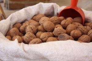Nuts at a Turkish market in Alanya, Turkey