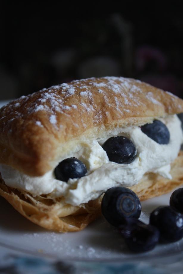 Blueberry Cream Slice