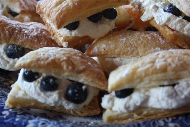 Blueberry Cream Slices