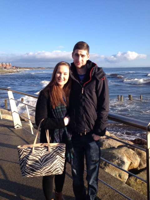Joe with his girlfriend Edel brings our family headcount up to seven...