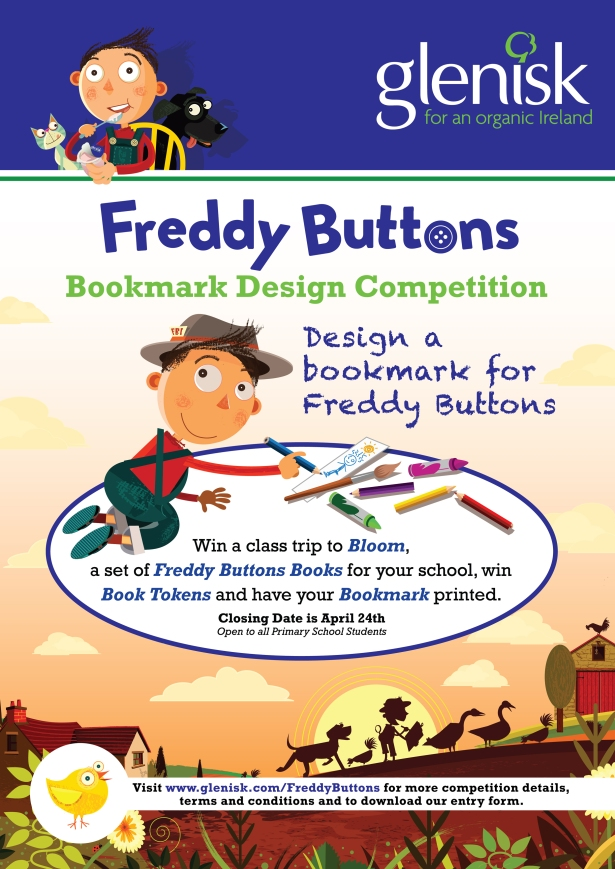Freddy Buttons Competition poster A3 CMYK